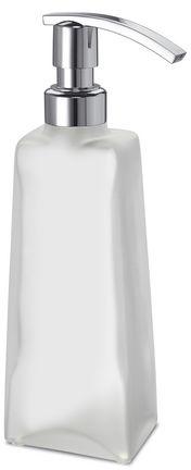 Дозатор для жидкого мыла Windisch Box Lineal Crystal Matt 90113MCR настольный хром /стекло матовое белое
