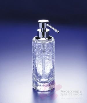 Дозатор для жидкого мыла Windisch Addition Craquele 90414CR настольный стекло `кракле` / хром
