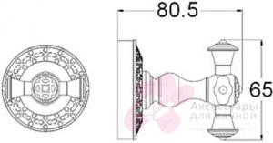 Крючок Zorg Antic AZR 02 BR двойной бронза