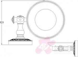 Мыльница Zorg Antic AZR 06 BR подвесная бронза / стекло матовое