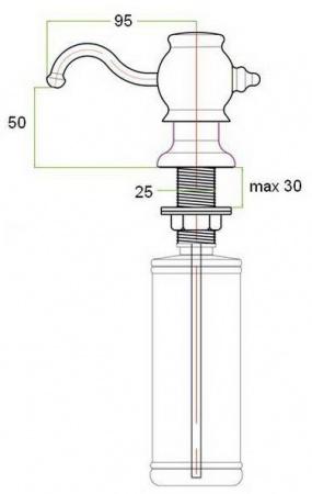 Дозатор жидкого мыла Zorg Inox ZR 24 White встраиваемый белый