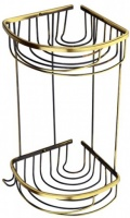 Полка Aksy Bagno Fantasia Antique 2030 A решетка угловая двойная бронза