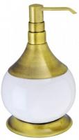 Дозатор для мыла Aksy Bagno Fantasia Antique 8630 A настольный бронза / керамика белая