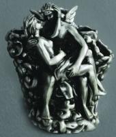 Подставка Art&Max Romantic AM-0081B-T для зубных щеток настольная серебро