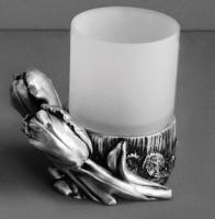 Стакан Art&Max Tulip AM-B-0082D-T настольный серебро