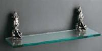 Полка стеклянная Art&Max Athena AM-B-0613-T серебро