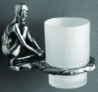 Стакан Art&Max Juno AM-B-0714-T настенный серебро