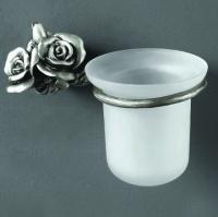 Держатель с колбой Art&Max Rose AM-0911-T для ершика настенный серебро