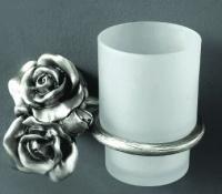 Стакан Art&Max Rose AM-B-0914-T настенный серебро