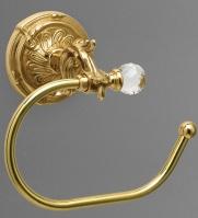 Держатель туалетной бумаги Art&Max Barocco Crystal AM-1782-Cr-C без крышки хром / Swarovski