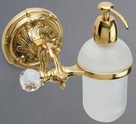 Дозатор мыла Art&Max Barocco Crystal AM-1788-Cr-C настенный хром / стекло матовое / Swarovski