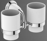 Два стакана Art&Max Bianchi AM-E-3688AW/AM-E-2602-Cr на держателе настенные хром
