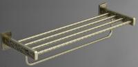 Полка-решетка Art&Max Gotico AM-E-4822AQ для полотенец бронза