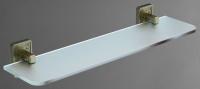 Полка стеклянная Art&Max Gotico AM-E-4882AQ стекло прозрачное / бронза
