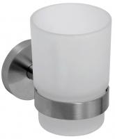 Стакан для зубных щеток Bemeta Neo 104110015 настенный хром/стекло матовое