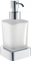 Дозатор для жидкого мыла Bemeta Solo 139109042 хром/стекло матовое