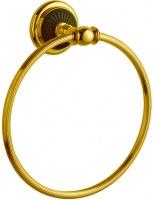 Полотенцедержатель Boheme Palazzo Nero 10155 кольцо золото / керамика черная