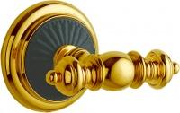 Крючок Boheme Palazzo Nero 10156 двойной золото / керамика черная