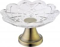 Мыльница Boheme Royal Crystal 10201 настольная бронза / хрусталь
