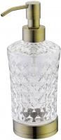 Дозатор жидкого мыла Boheme Royal Crystal 10221 настольный бронза / хрусталь