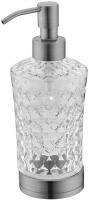 Дозатор жидкого мыла Boheme Royal Crystal 10223 настольный хром / хрусталь