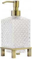 Дозатор жидкого мыла Boheme Royal Crystal 10224 настольный бронза / хрусталь