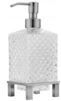 Дозатор жидкого мыла Boheme Royal Crystal 10226 настольный хром / хрусталь