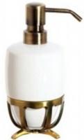 Дозатор жидкого мыла Cameya Deco 19T6-40-N настольный бронза/керамика белая