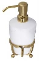 Дозатор жидкого мыла Cameya Deco 19T6-40 настольный бронза/керамика белая