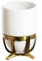 Стакан Cameya Deco 20T6-40-N настольный бронза/керамика белая
