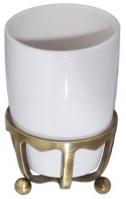 Стакан Cameya Deco 20T6-40 настольный бронза/керамика белая