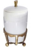 Контейнер Cameya Deco 50T6-40 настольный бронза/керамика белая