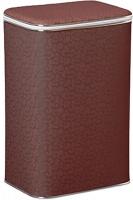 Корзина Cameya FDH-BG для белья 45 х h60 x 32 см глубокая цвет коричневый (кант хром)/цветы