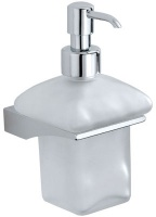 Дозатор для мыла Carbonari Broke  PSBK2 подвесной хром / стекло матовое