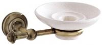 Мыльница Carbonari Gamma Anticata PSGA ANT BR подвесная античная бронза / керамика белая