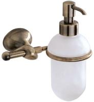 Дозатор для мыла Carbonari Riccio Anticata PSRI2 ANT BR подвесной античная бронза / стекло матовое