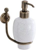 Дозатор для мыла Carbonari Teresa Anticata PSTE2 ANT BR подвесной античная бронза / керамика белая