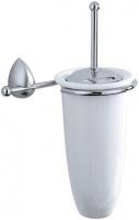 Ершик Carbonari Monster SCMO SS для туалета настенный хром матовый / керамика белая