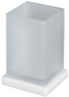 Стакан Colombo Look B1641.BM настольный белый матовый / стекло матовое