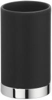 Стакан Colombo Nordic B5241.0CR-CNO настольный хром / керамика черная