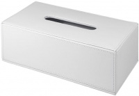 Контейнер Colombo Black&White В9203 EPB для салфеток 25 х 14 см экокожа цвет белый