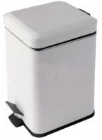 Ведро для мусора Colombo Black&White В9210 EPB с педалью (3л экокожа цвет белый