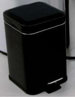Ведро для мусора Colombo Black&White В9211 EPN с педалью (5 л экокожа цвет черный