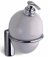 Дозатор для мыла Colombo Luna B9302.000 подвесной хром / стекло матовое