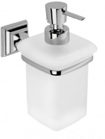 Дозатор для мыла Colombo Portofino B9325.000 подвесной хром / стекло матовое