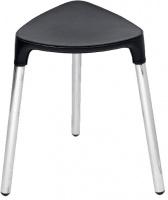 Стульчик Colombo Black&White В9988 EPB хром / сиденье экокожа цвет белый