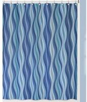 Шторка Creative Bath Wavelength S1251BLU для ванны цвет синий/голубой