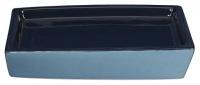 Мыльница Creative Bath Wavelength WVL56BLU настольная цвет синий/голубой