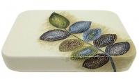 Мыльница Croscill Mosaic Leaves 6A0-004O0-0086-990 настольная цвет белый