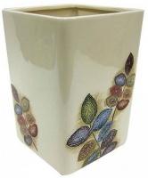 Корзина Croscill Mosaic Leaves 6A0-005O0-0086-990 для мусора цвет белый